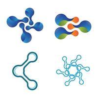 imagens do logotipo da molécula vetor