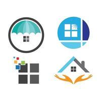 imagens do logotipo da janela da casa vetor