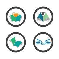 imagens do logotipo do livro vetor