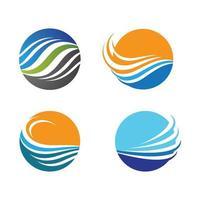imagens do logotipo da praia do pôr do sol vetor