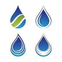 imagens de logotipo de gota d'água vetor