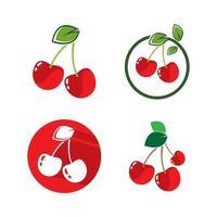imagens do logotipo da cereja vetor