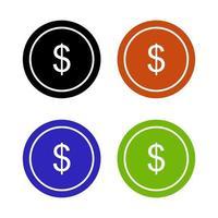 ícone de dinheiro no fundo vetor