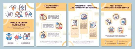 modelo de folheto de diretrizes para reunião familiar vetor