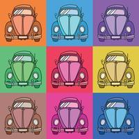Carro vintage pop art vetor