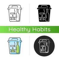 ícone de abandono de maus hábitos vetor