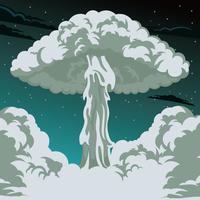 Explosão nuclear vetor