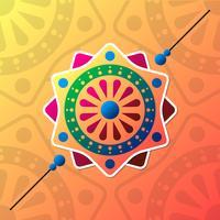 Desenhos coloridos bonitos de Rakhi vetor