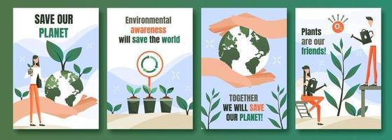 cartazes de proteção ambiental vetor