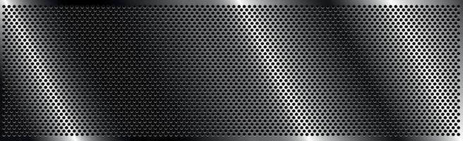 ferro perfurado de prata com reflexos brancos vetor