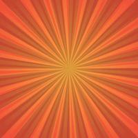 imagem abstrata, raios de sol laranja sobre fundo vermelho vetor