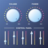 Botão de volume de controle de música para sites ou aplicativos vetor