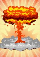 Grande explosão vetor