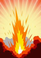 Alta explosão vetor