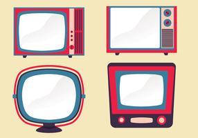 Conjunto de vetores de televisor retrô