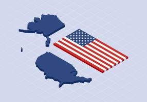 Vetores de mapa único marco dos Estados Unidos