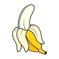 ilustração vetorial de banana descascada vetor
