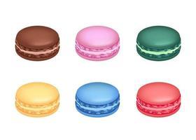 macarons de várias cores vetor