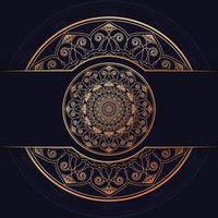 design de fundo de mandala de luxo vetor