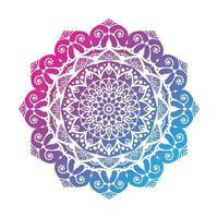 desenho de mandala colorido vetor