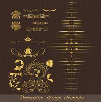 elementos de design ornamental vintage vetor