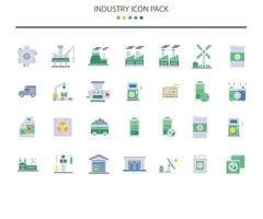 ícones da indústria em estilo simples vetor
