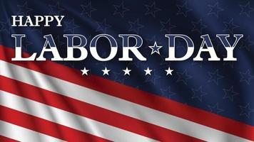 feliz Dia do Trabalho. cartão do dia do trabalho dos EUA com fundo nas cores da bandeira nacional dos Estados Unidos. vetor
