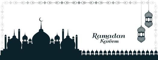 desenho de banner islâmico do festival cultural ramadan kareem vetor