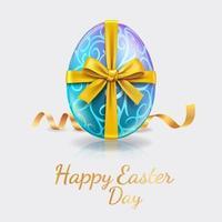banner de celebração feliz dia de páscoa vetor