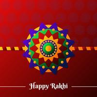 Ilustração colorida bonita do projeto de Rakhi vetor