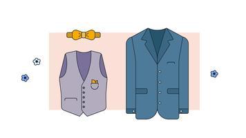 Vetor de roupa formal homem