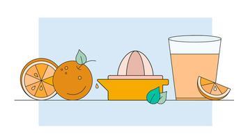 Suco de laranja vetor