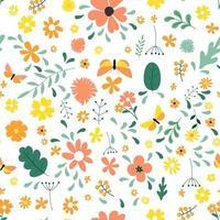 sem costura de fundo com elementos de design de flores simples. ilustração vetorial eps10 vetor