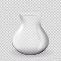 elemento de design de vaso de vidro 3d realista vetor