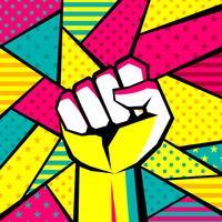 Mão gesto moderno Pop Art Vector