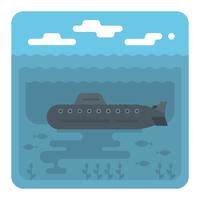Submarino vetor