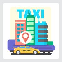 Serviço de táxi vetor