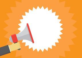 Megafone ou alto-falante para alerta de notificação vetor