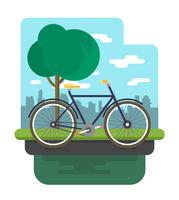 Ilustração de bicicleta vetor