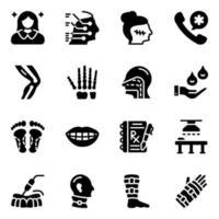 conjunto de ícones médicos e cirúrgicos vetor