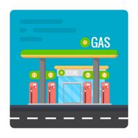 Posto de gasolina vetor