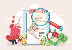 Vetor de dieta cetogênica Vol 2