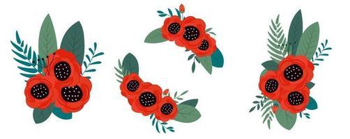 elemento de design brilhante de flores de primavera e verão. pode ser usado para cartões de aniversário, feliz 8 de março, pôster do dia das mães. ilustração vetorial eps10 vetor