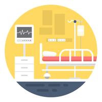 Quarto de hospital vetor