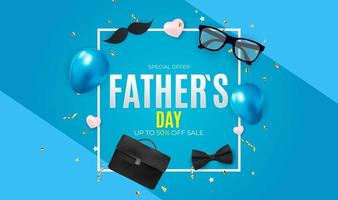 fundo de venda do dia do pai. cartaz, folheto, cartão de felicitações, cabeçalho para o site. ilustração vetorial. eps10 vetor