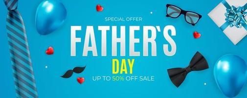 fundo de venda do dia do pai. cartaz, folheto, cartão de felicitações, cabeçalho para o site. ilustração vetorial eps10 vetor