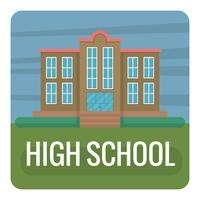 escola secundária plana vetor