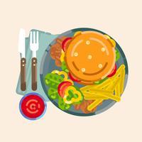 Ilustração em vetor Burger Outline