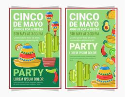 Vetor Cinco De Mayo Posters