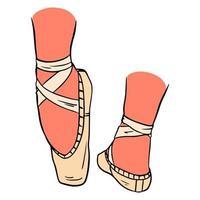 sapatilhas de ponta rosa vetor